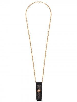 Чехол для зажигалки Gucci. Цвет: черный