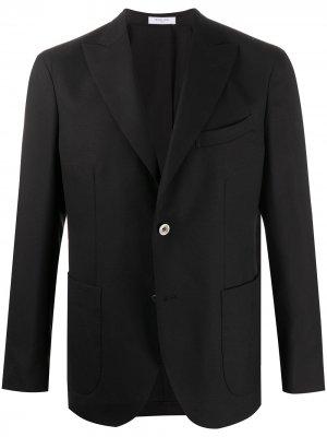 Однобортный пиджак строгого кроя Boglioli. Цвет: черный
