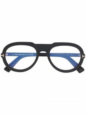 Очки-авиаторы TOM FORD Eyewear. Цвет: черный
