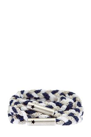 Созданный вручную плетеный пояс с мерцающей нитью LORENA ANTONIAZZI. Цвет: мульти