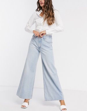 Светло-синие широкие джинсы Levis-Синий Levi's