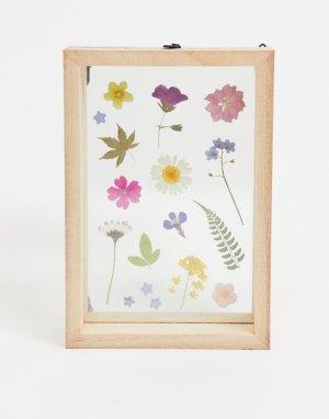 Фоторамка с принтом засушенных цветов -Многоцветный Sass & Belle