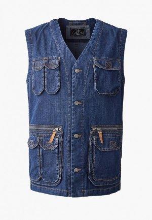 Жилет джинсовый Galion. Цвет: синий