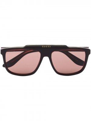 Aviator-frame sunglasses Gucci Eyewear. Цвет: коричневый