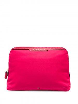 Lotions & Potions clutch bag Anya Hindmarch. Цвет: розовый