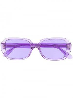 Солнцезащитные очки в прозрачной квадратной оправе Retrosuperfuture. Цвет: фиолетовый