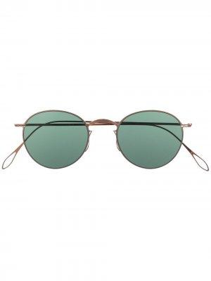 Солнцезащитные очки Lynwood в круглой оправе Haffmans & Neumeister. Цвет: коричневый