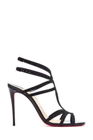 Черные кожаные босоножки Renee 100 Christian Louboutin. Цвет: черный