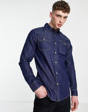 Темно-выбеленная джинсовая рубашка -Голубой Criminal Damage