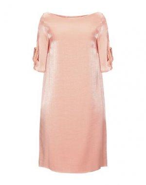 Короткое платье CARACTÈRE. Цвет: лососево-розовый