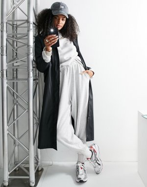 Эксклюзивный длинный черный макинтош -Черный цвет Vero Moda