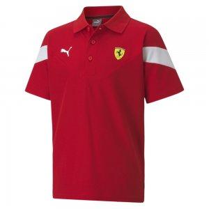 Детское поло Ferrari Race Kids MCS Polo PUMA. Цвет: красный