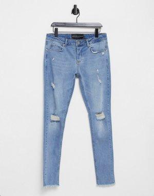 Синие зауженные джинсы -Голубой Criminal Damage