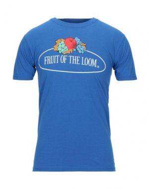 Футболка FRUIT OF THE LOOM. Цвет: ярко-синий
