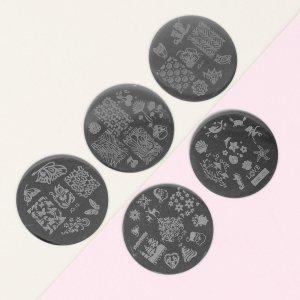 Диски для стемпинга металлические, 5,5 см, 5 шт Queen fair