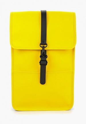 Рюкзак Rains. Цвет: желтый