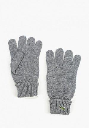 Перчатки Lacoste. Цвет: серый