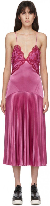 Purple Lace Slinky Dress Christopher Kane. Цвет: pink