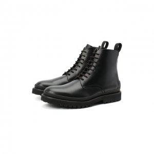 Кожаные ботинки HUGO. Цвет: чёрный