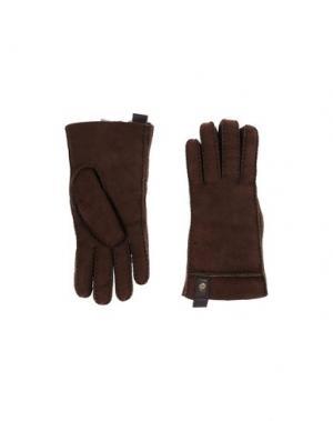 Перчатки UGG AUSTRALIA. Цвет: темно-коричневый