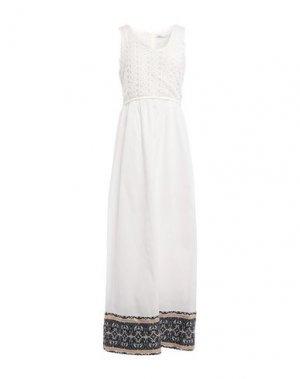 Длинное платье FAIRLY. Цвет: белый
