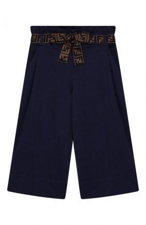 Укороченные брюки из вискозы Fendi. Цвет: синий