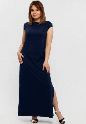 Платье Апрель. Цвет: синий