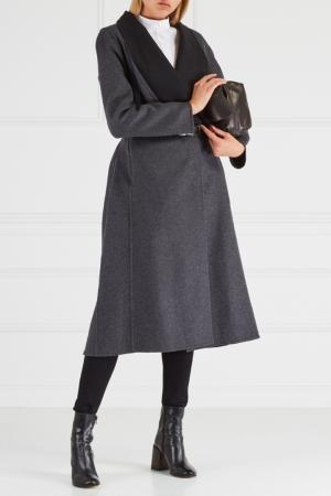 Шерстяное пальто Chapurin. Цвет: серый