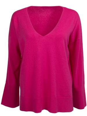 Однотонный пуловер HUGO BOSS. Цвет: розовый