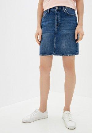 Юбка джинсовая Colins Colin's. Цвет: синий