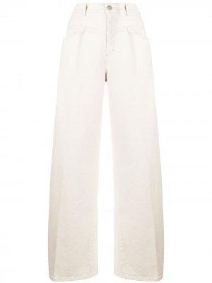 Расклешенные брюки с завышенной талией Closed. Цвет: нейтральные цвета