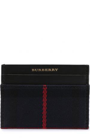 Чехол для кредитных карт с текстильной отделкой Burberry. Цвет: синий
