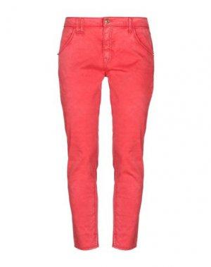 Повседневные брюки CYCLE. Цвет: красный