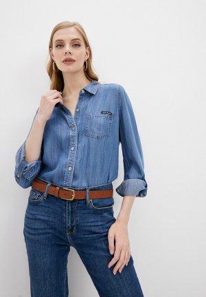 Рубашка джинсовая DKNY. Цвет: синий