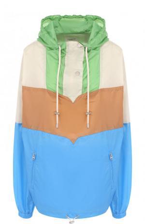 Ветровка свободного кроя с капюшоном Isabel Marant Etoile. Цвет: разноцветный