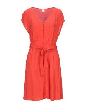 Короткое платье DES PETITS HAUTS. Цвет: коралловый