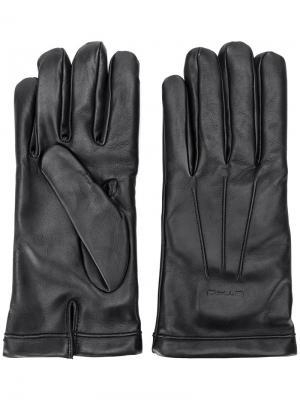 Перчатки с тисненым логотипом Etro. Цвет: чёрный