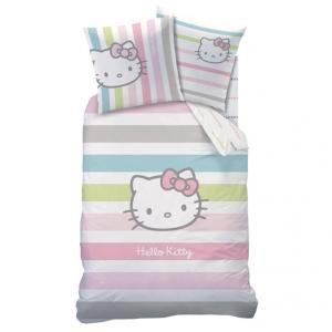Комплект пододеяльник + наволочка Hello Kitty, для ребнка KITTY. Цвет: розовый