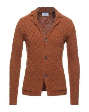 Пиджак BERNA. Цвет: ржаво-коричневый