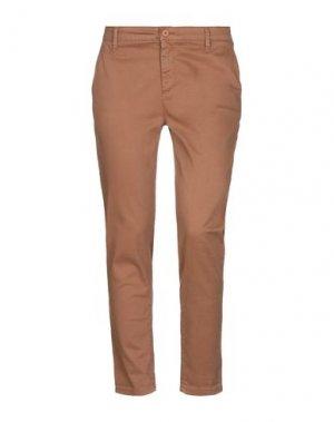 Повседневные брюки H2O ITALIA. Цвет: коричневый