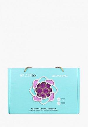 Массажер для тела Gezatone коврик акупунктурный 72х42 см фиолетовый EcoLife. Цвет: фиолетовый