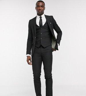 Однотонный приталенный пиджак Tall-Черный цвет Harry Brown