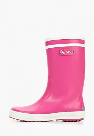 Резиновые сапоги Aigle. Цвет: розовый