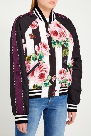 Двусторонний бомбер с цветочным принтом Dolce&Gabbana. Цвет: multicolor