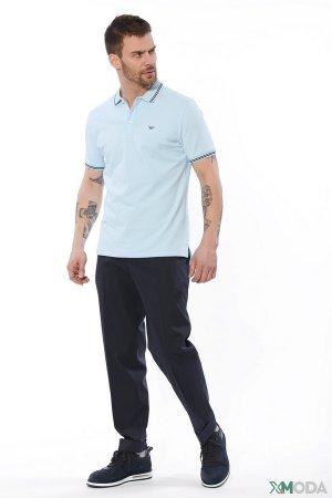 Классические брюки Emporio Armani. Цвет: синий