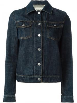 Классическая джинсовая куртка Helmut Lang Vintage. Цвет: синий