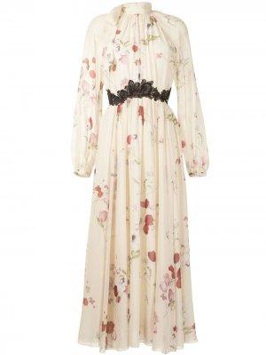 Платье с цветочным принтом Giambattista Valli. Цвет: разноцветный