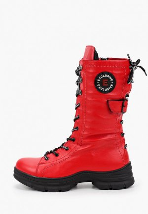Ботинки Alterego. Цвет: красный