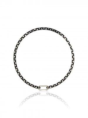 Золотой чокер Lucy с бриллиантами EÉRA. Цвет: белый черный