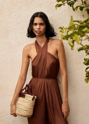 Кожаная сумка-корзина ручной работы - Ibiza Mango. Цвет: коричневый средний